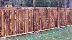 Shou Sugi Ban Fence Project