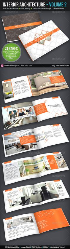 Interior Achitecture Brochure | Volume 2 #GraphicRiver Specs : adobe indesign cs3, cs4, cs5, cs6 Format indd Resolution 300 dpi Size A5, plus 3mm Bleed Color CMYK Photo Not Included On Download File Fonts : Arial : Standard Font Nexa Free Font: .fontfabric /nexa-free-font/ Created: 5October13 GraphicsFilesIncluded: InDesignINDD Layered: Yes MinimumAdobeCSVersion: CS3 PrintDimensions: 8.2x5.8 Tags: 3d #achitec