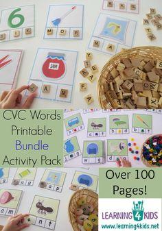 Printable CVC Words Bundle Activity Pack
