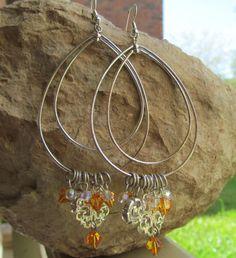 Beautiful One of a Kind Charm Dangle Earrings by stevenssteampunk, $20.00
