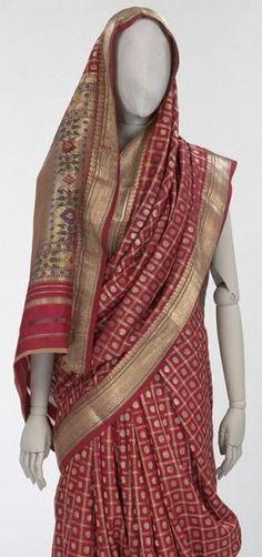 What Radha or Narain might wear. Sari, Ahmedabad, India, 19th century.