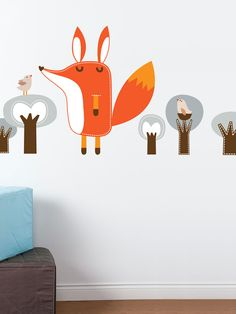 Paolo the Fox Removable Wall Decal by ADzif