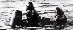 Italian frogmen of Decimas Mas during WWII