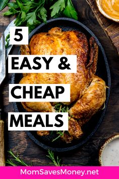 5 Cheap (and Easy) Family Meal Ideas! Fast Dinner Recipes, Fast Dinners, Cheap Dinners, Delicious Recipes, Easy Recipes, Easy Family Meals, Frugal Meals, Budget Meals, Easy Meals