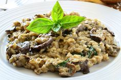 Mushroom and Farro Risotto