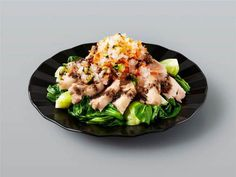 鶏肉とチンゲン菜の蒸しサラダ