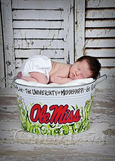 Newborn ~ Baby Girl ~ Ole Miss ~ Meridian, MS ~ Creative Images Photography