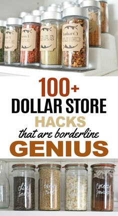 Dollar store hacks that are perfect for DIY projects. These dollar store crafts will really help you organize, clean and decorate your home! I've become a bit of a connoisseur for dollar store hacks. Dollar Store Hacks, Dollar Store Crafts, Dollar Stores, Diy Rustic Decor, Farmhouse Decor, Diy Garage Storage, Storage Ideas, Storage Solutions, Diy Apartment Decor