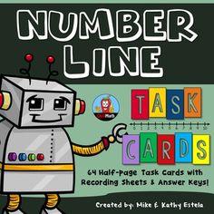 Number Line Task Cards $