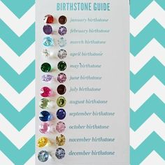 A look at our true birthstone colors - Origami Owl. | http://loveablelockets.com