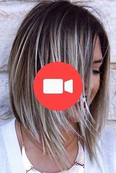 Edgy Bob Haircuts, Medium Layered Haircuts, Hairstyles With Bangs, Layered Hairstyles, Blonde Hair With Bangs, Long Gray Hair, Balayage Highlights, Bridesmaid Hair, Short Hair Styles