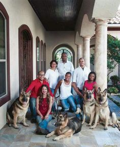 Simone Biles & her GSDs