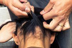 Hairstylist Dax Sarmiento of Mare Salon in LA showed us how to do a braided bun, this year's update to the braid crown. Mohawk Braid, Braid Crown, Summer Hairstyles, Braided Hairstyles, Two Braids Style, Braid Styles, Short Hair Styles, Upside Down Braid, Summer Braids