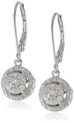14k White Gold Diamond Cluster Circle Drop Earrings (0.44 cttw, H-I Color, I1-I2 Clarity) Amazon Curated Collection http://www.amazon.com/dp/B00E0IWUAQ/ref=cm_sw_r_pi_dp_DaOEub1P0P2VR