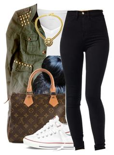 """""""Untitled #777"""" by lovleyshackeria ❤ liked on Polyvore featuring Calvin Klein, Louis Vuitton and Converse"""