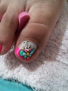 Que Pedicure Nail Art, Toe Nail Art, French Pedicure, Toe Nail Designs, Nail Polish Designs, Pedicure Designs, Pretty Toe Nails, Cute Nails, Hair And Nails