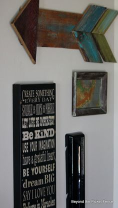 Wall hanging word art