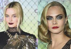 Batalha de make: Cara Delevingne, Margot Robbie ou Viola Davis na première de Esquadrão Suicida