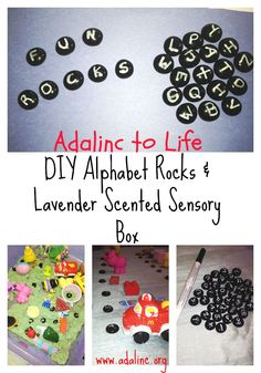 ​ Lavender Alphabet Pebbles Sensory Bin This sensory bin can be used as a quiet time activity bin or as a calm down bin as well as the work we use it to help my daughter learn her sounds of the alphabet.  She has been diagnosed with a severe phonological delay and so ... Read more
