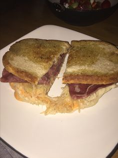 Detroit special! Reuben sandwich on rye and some great corned beef.