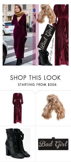 """Velvet dress..."" by unamiradaatuarmario ❤ liked on Polyvore featuring Preen, Backlash and Valentino"