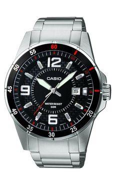 ¡Chollo! Reloj CASIO Quarz MTP-1291D-1A1VEF correa de acero inoxidable por  39 euros. da5bd3a0d91a