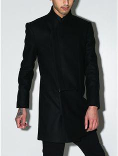 men's slash front coat