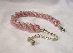 """Tara"" - Kumihimo bracelet in pink and pink"