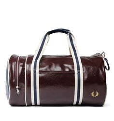 2dee54e5ceda Fred Perry Vintage Inspired Maroon   Navy Barrel Bag