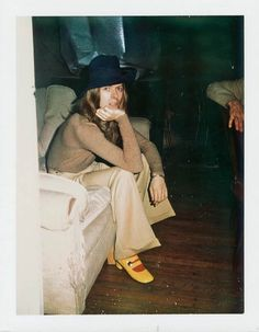Andy Warhol Polaroid of David Bowie, 1971.