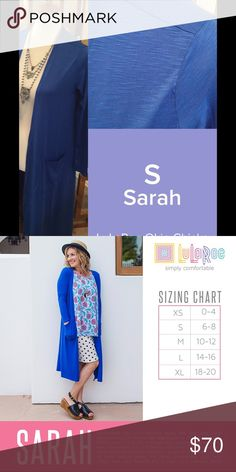 LuLaRoe Sarah Size S NWT We have tons more to list. helping a friend liquidate her inventory. So let us know what your looking for and we will see what we have in your size. She is open to offers as well. Jewelry is Park Lane! We can get those items too! Create a bundle for you. LuLaRoe Sweaters Cardigans