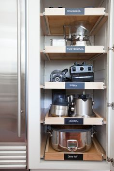 3. WOW! Roll out shelves for tools! This is a pretty amazing idea! Kitchen Organization and storage ideas