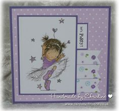 LOTV - Just for Girls Art Pad. Card by Christine Levison