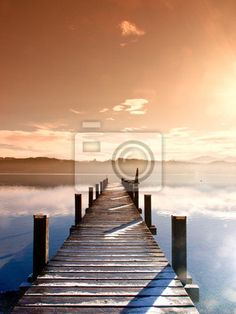 Wall Mural wooden jetty (64)