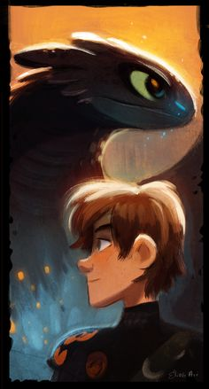 How to train your Dragon 2 by Elioli Art http://elioliart.blogspot.com/2014/06/alpha-and-chief.html