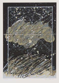 Juhana Blomstedt: Nimetön, 1982, serigrafia, 50x35 cm - Galleria Bronda 2016