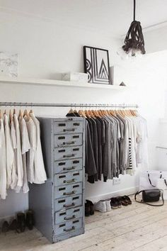 industrial closet  10 INDUSTRIAL STYLE CLOSET DESIGNS THAT YOU'LL LOVE_see more inspiring articles at http://vintageindustrialstyle.com/industrial-style-closet-designs-youll-love/