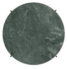 Gubi - TS Couchtisch - Marble Verde Guatemala - Gestell messing - Ø 80 cm - indoor Filigranes Design, Design Studio, Guatemala, Best Sellers, Lounge, Marble Tables, Liv, Home Decor, Mesas