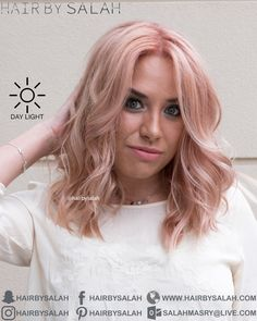 Rose Gold Blonde Hair from Hair By Salah - Lived In Color Team. www.hairbysalah.com #hair #haircolor #haircolors #haircolour #fashionhaircolors #fashionhair #hairfashion #newhaircolor #haircoloring #rosegoldblonde #rosegold #blonde #lightblonde #newlook #nicehair #hairinspiration #hairoftheday #hairbysalah #hairvidoes #colorchange #hairtransformation #beauty #makeup #dubai #saudi #abudhabi