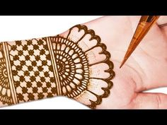 2019 Easy Arabic Mehndi Design For Hands - Henna Design || latest Mehndi Design || simple mehndi - YouTube Simple Arabic Mehndi Designs, Indian Mehndi Designs, Full Hand Mehndi Designs, Mehndi Simple, Henna Designs Easy, Beautiful Mehndi Design, Latest Mehndi Designs, Mehandi Designs, Bridal Mehndi