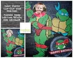 Teenage Mutant Ninja Turtle  Photo Cut Out by MadisonDesignShop, $20.00