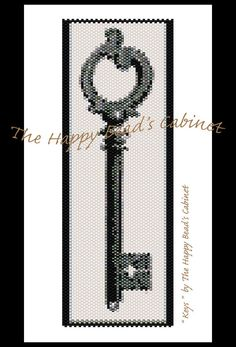 "Peyote pattern or loom beading bracelet pattern, ""Keys"" - INSTANT DOWNLOAD PDF , bracelet, cuff, jewelry. beading design"