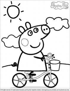 peppa pig coloring pages free online printable coloring pages, sheets for kids. Get the latest free peppa pig coloring pages images, favorite coloring pages to print online by ONLY COLORING PAGES. Peppa Pig Coloring Pages, Cartoon Coloring Pages, Coloring Pages To Print, Coloring For Kids, Printable Coloring, Coloring Pages For Kids, Coloring Books, Coloring Sheets, Peppa Pig Drawing