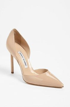Manolo Blahnik 'Taylor' Pump available at #Nordstrom - always a great color to have in a simple heel. #manoloblahnikheelsfashion