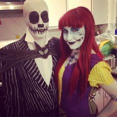 Pin for Later: Adorable Disney Couples Costumes Jack and Sally Disney Couple Costumes, Cute Couples Costumes, Disney Couples, Disney Diy, Cool Costumes, Costume Ideas, Disney Ideas, Halloween Costume Props, Halloween Fun