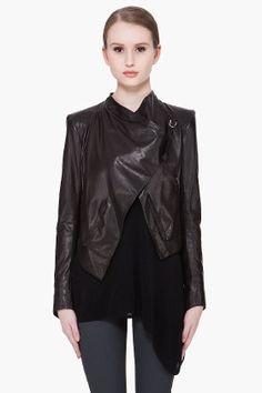 helmut lang waxed leather jacket