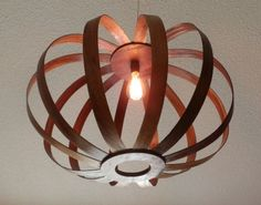 Recycled Wood Pendant Lamp
