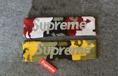 This Supreme Fleece Headband is available in 5 colors (Blue, Red, Black, Yellow and Camo). Supreme Accessories, Ribbons, Headbands, Camo, Street Wear, Polyvore, Red, How To Make, Camouflage