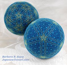 Japanese Temari: Part Two - Intricate marking for multi centers