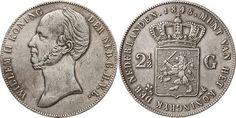 Koninkrijk der Nederlanden, Willem II (1792-1849),  'Rijksdaalder' 2 1-2 Gulden, 1845.